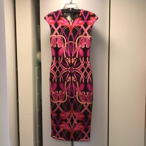 Ted Baker Colorful Midi Zipper Dress. Worn Once.